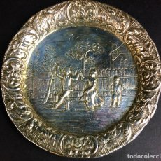 Antigüedades: CENICERO. PLATA DE LEY. CINCELADO A MANO. ALEMANIA(?) XIX-XX.. Lote 63658795