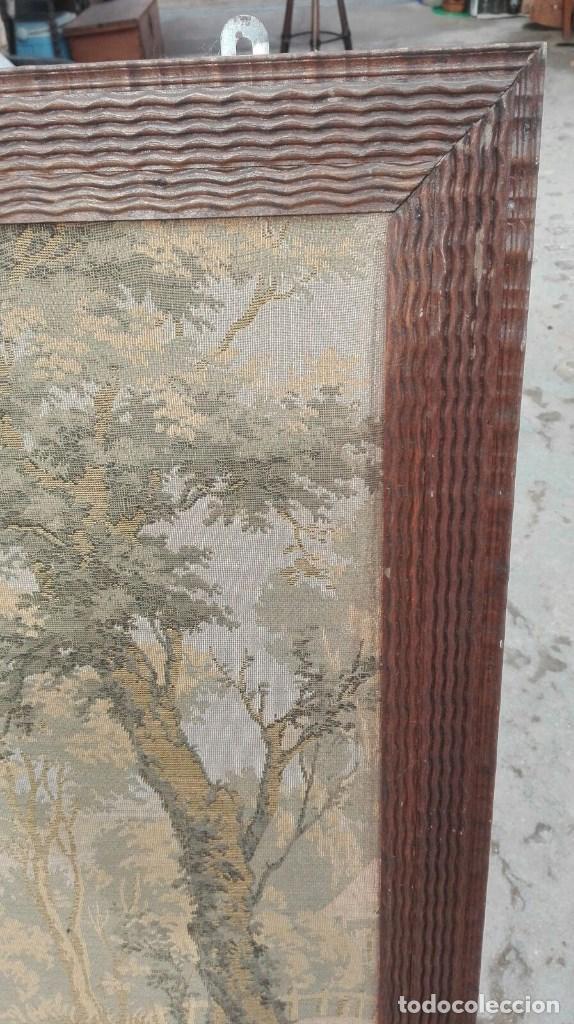 Antigüedades: TAPIZ CON ESCENA DE SIEGA DIMENSIONES 1 METRO 58 CMS. DE LARGO X 1 METRO Y 10 DE ALTO - Foto 2 - 63666619
