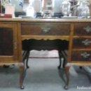 Antigüedades: MESA DE DESPACHO EN MADERA NOGAL. Lote 63682411