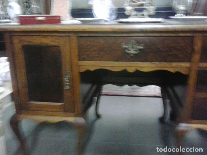 Antigüedades: Mesa de despacho en madera nogal - Foto 2 - 63682411