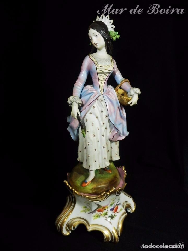 Antigüedades: Bellísima pareja en porcelana y biscuit - Centroeuropa años 1800 - Foto 2 - 63685351