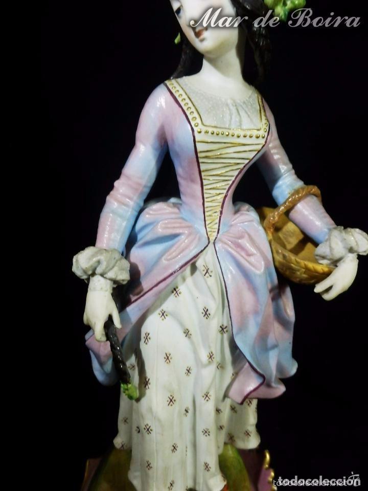 Antigüedades: Bellísima pareja en porcelana y biscuit - Centroeuropa años 1800 - Foto 4 - 63685351