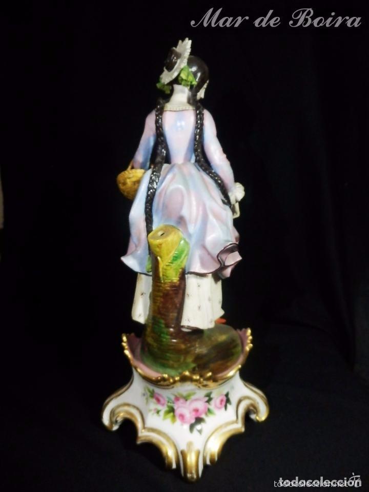 Antigüedades: Bellísima pareja en porcelana y biscuit - Centroeuropa años 1800 - Foto 5 - 63685351