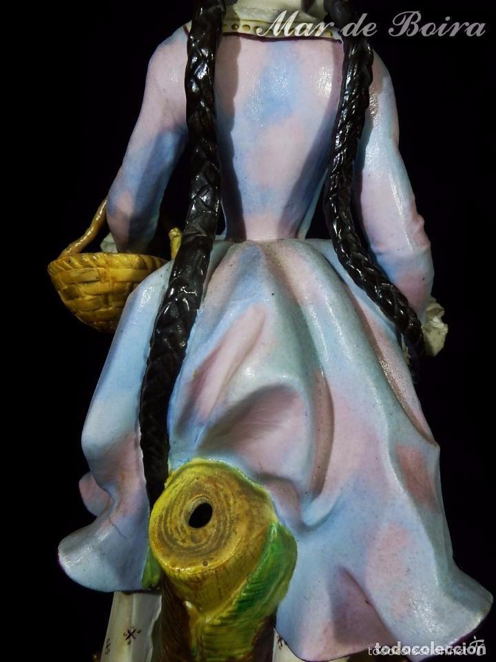 Antigüedades: Bellísima pareja en porcelana y biscuit - Centroeuropa años 1800 - Foto 8 - 63685351