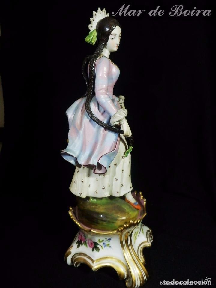 Antigüedades: Bellísima pareja en porcelana y biscuit - Centroeuropa años 1800 - Foto 10 - 63685351