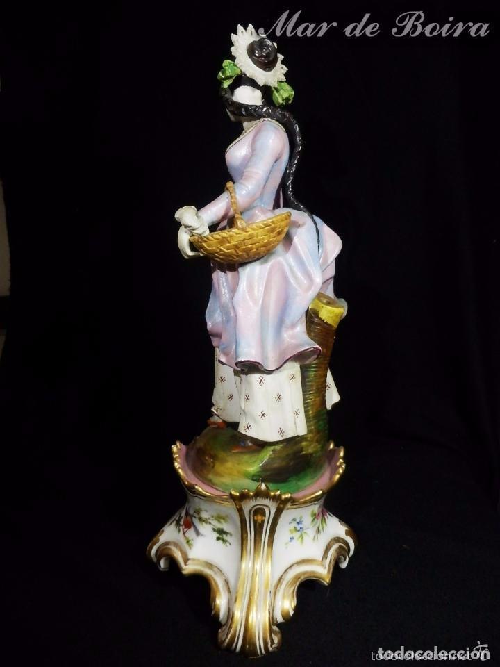 Antigüedades: Bellísima pareja en porcelana y biscuit - Centroeuropa años 1800 - Foto 15 - 63685351