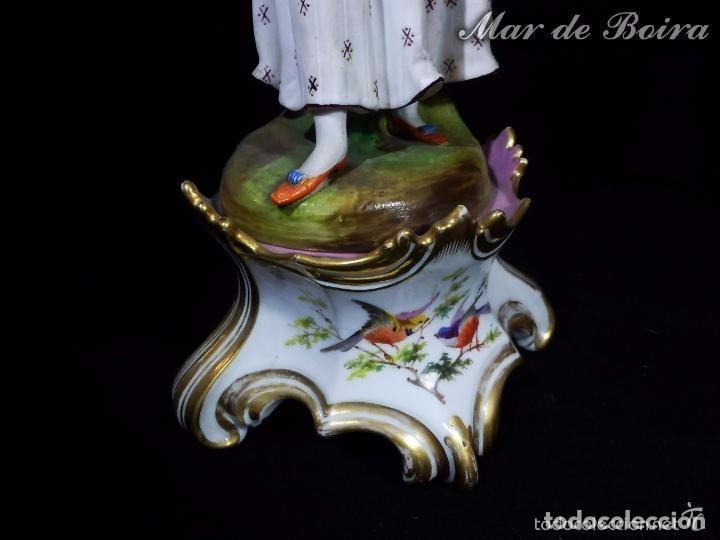 Antigüedades: Bellísima pareja en porcelana y biscuit - Centroeuropa años 1800 - Foto 16 - 63685351