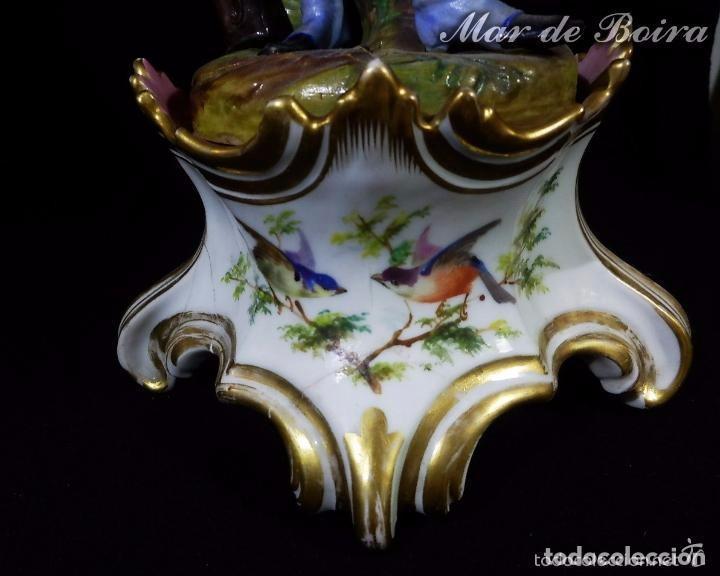 Antigüedades: Bellísima pareja en porcelana y biscuit - Centroeuropa años 1800 - Foto 19 - 63685351