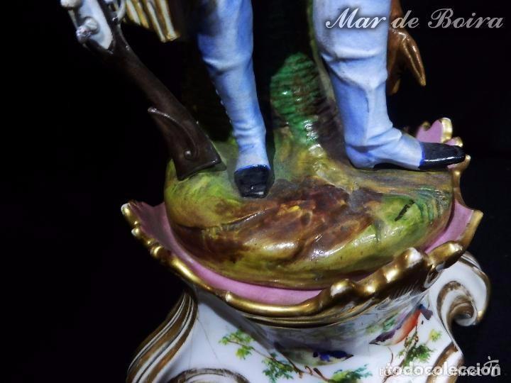 Antigüedades: Bellísima pareja en porcelana y biscuit - Centroeuropa años 1800 - Foto 23 - 63685351