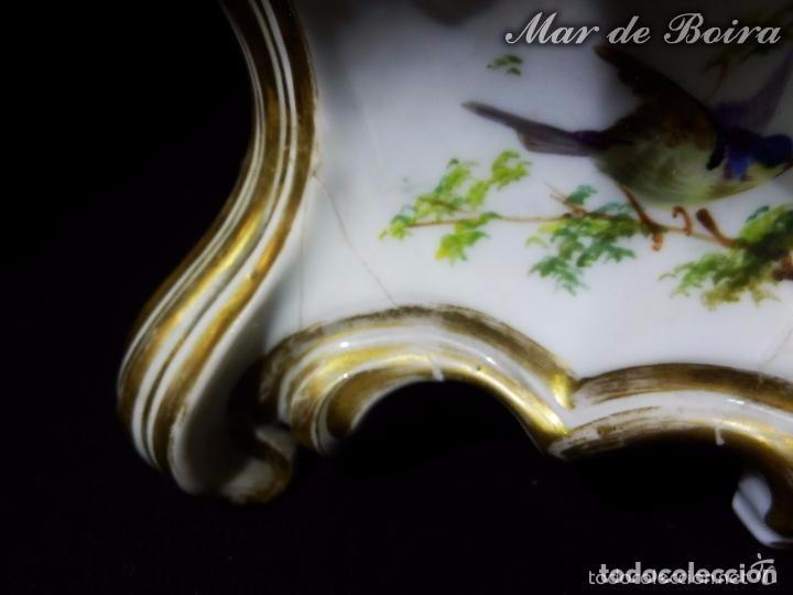Antigüedades: Bellísima pareja en porcelana y biscuit - Centroeuropa años 1800 - Foto 24 - 63685351