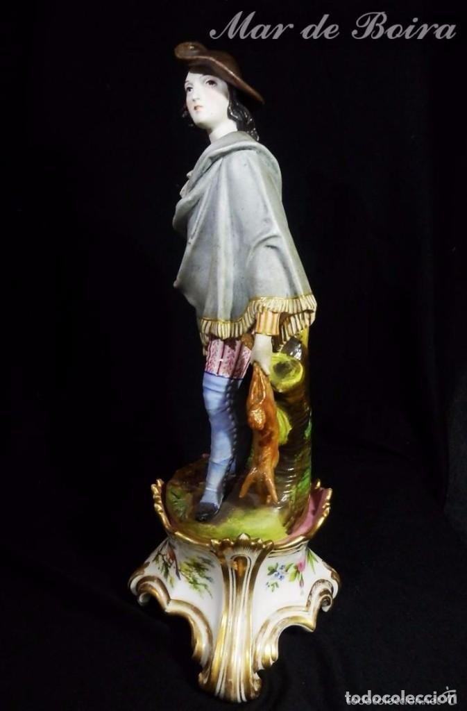 Antigüedades: Bellísima pareja en porcelana y biscuit - Centroeuropa años 1800 - Foto 27 - 63685351