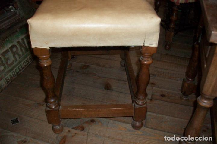 Antigüedades: ANTIGUA BANQUETA - Foto 3 - 84771339