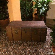 Antigüedades: BAÚL DE VIAJE DE FINALES DEL SIGLO XIX (FÁBRICA EUGENIO FORGA). Lote 63692977