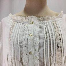 Antiques - Antigua camisa de mujer, bordada - 63729215