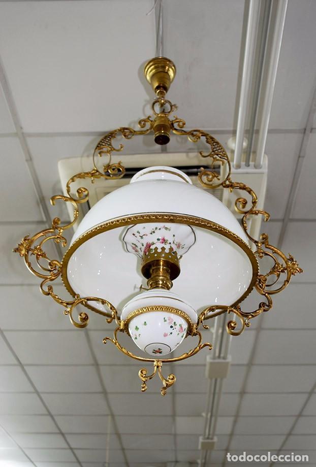 L mpara antigua de techo tipo quinqu comprar l mparas antiguas en todocoleccion 63776579 - Tipos de lamparas de techo ...