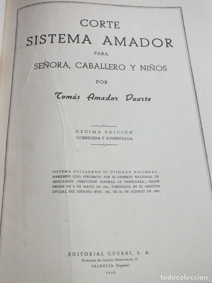 Antigüedades: CORTE SISTEMA AMADOR CONFECCION PATRONES PARA SEÑORA CABALLERO NIÑOS 10 EDICION 1963 SIN PLANTILLAS - Foto 3 - 63776951