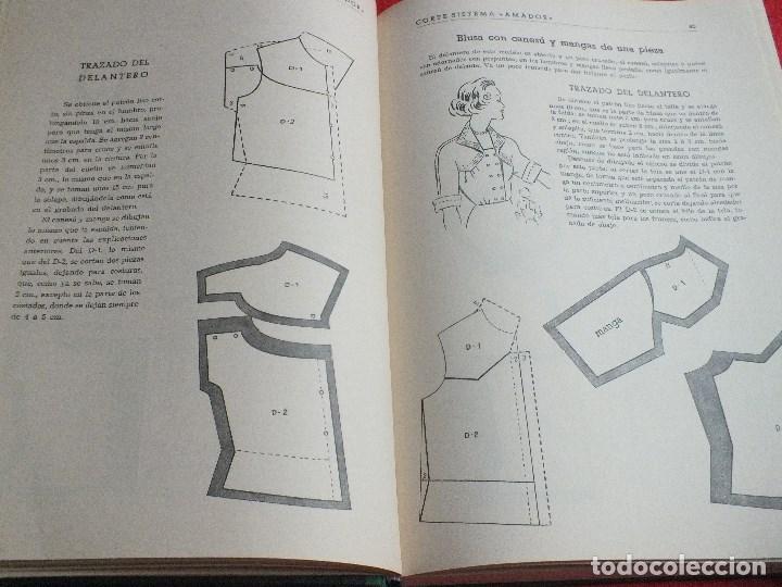 Antigüedades: CORTE SISTEMA AMADOR CONFECCION PATRONES PARA SEÑORA CABALLERO NIÑOS 10 EDICION 1963 SIN PLANTILLAS - Foto 4 - 63776951