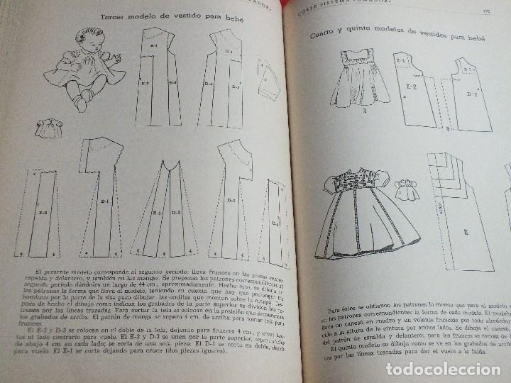 Antigüedades: CORTE SISTEMA AMADOR CONFECCION PATRONES PARA SEÑORA CABALLERO NIÑOS 10 EDICION 1963 SIN PLANTILLAS - Foto 8 - 63776951