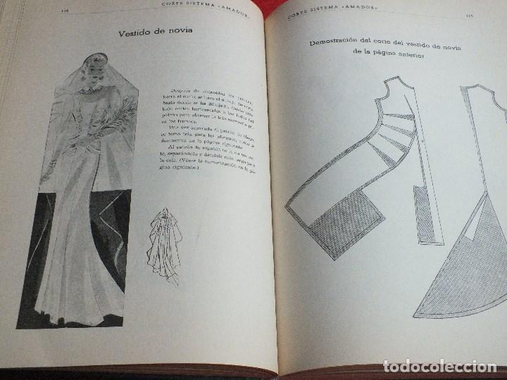 Antigüedades: CORTE SISTEMA AMADOR CONFECCION PATRONES PARA SEÑORA CABALLERO NIÑOS 10 EDICION 1963 SIN PLANTILLAS - Foto 10 - 63776951