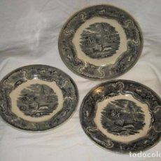Antigüedades: LOTE DE 3 PLATOS ANTIGUOS - LAS AMISTADES - CARTAGENA. Lote 63790395