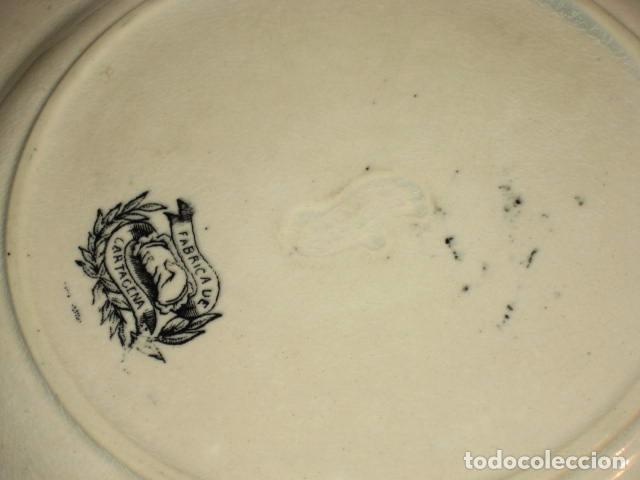 Antigüedades: LOTE DE 3 PLATOS ANTIGUOS - LAS AMISTADES - CARTAGENA - Foto 5 - 63790395