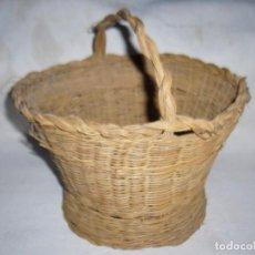 Antigüedades: CESTA ESPARTO TRENZADO - CESTITA - CESTO. Lote 63808987