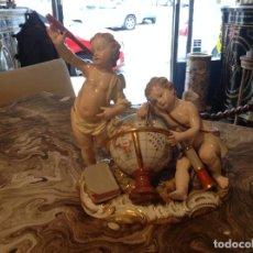 Antigüedades: GRUPO EN PORCELANA ALEMANA DE MEISSEN DEL SIGLO XIX. Lote 63785427