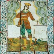 Antigüedades: SANTO. COMPOSICION DE 27 AZULEJOS. CERAMICA ESMALTADA. CATALUÑA. SIGLO XVII-XVIII.. Lote 63839119