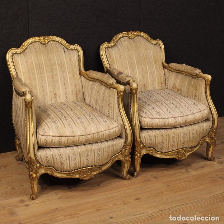 par de sillones francs de estilo luis xv antigedades muebles antiguos sillones antiguos