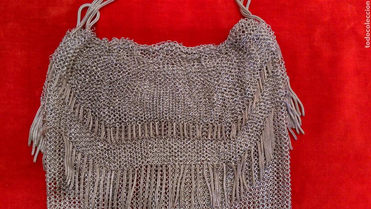 Antigüedades: Bolso de rejilla de plata del siglo XIX - Foto 4 - 63893259