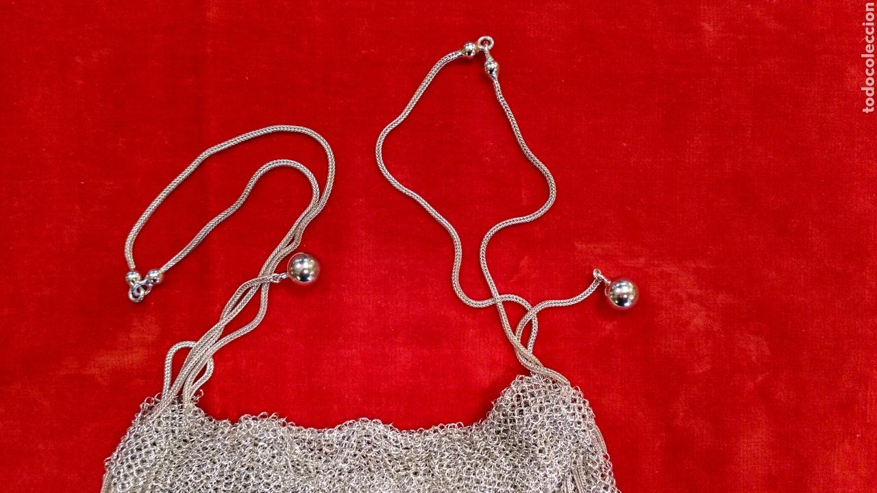 Antigüedades: Bolso de rejilla de plata del siglo XIX - Foto 5 - 63893259