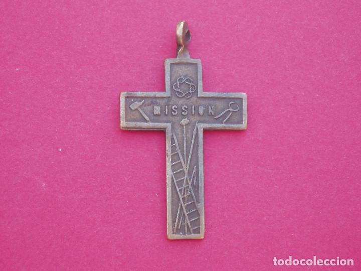 Antigüedades: Preciosa Cruz Medalla Siglo XVIII - XIX Símbolos de la Pasión. - Foto 2 - 63905771