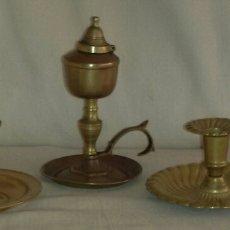 Antigüedades: TRES PALMATORIAS DE BRONCE.. Lote 63979453