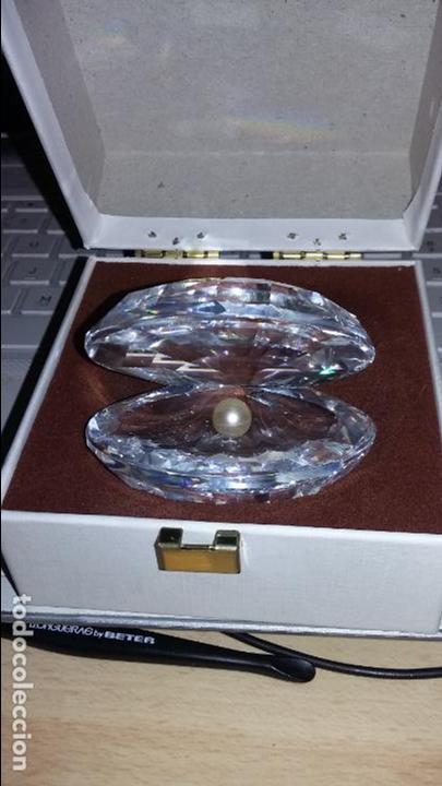 Antigüedades: swarovski, madreperla. concha de cristal con perla - Foto 2 - 63984059
