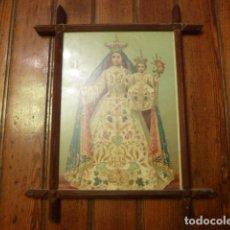 Antigüedades: MARCO CRUCERO CON LAMINA VIRGEN. Lote 63996131