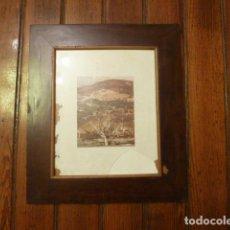 Antigüedades: MARCO DE CAOBA CON LAMINA. Lote 63996919