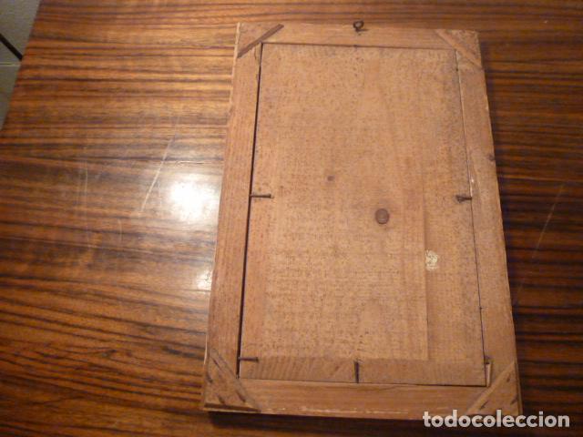 Antigüedades: marco de madera con recuerdo primera comunion 1908 - Foto 3 - 63997047