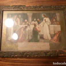 Antigüedades: MARCO CON RECUERDO PRIMERA COMUNION . Lote 63997455