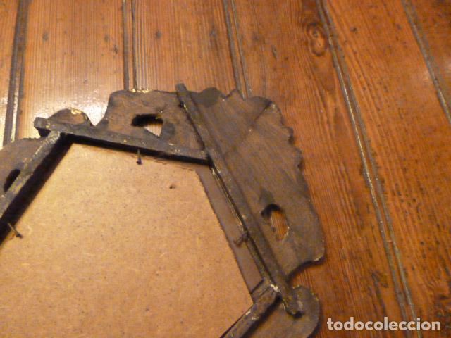 Antigüedades: pareja de espejos dorados de madera y oro - Foto 8 - 64028495