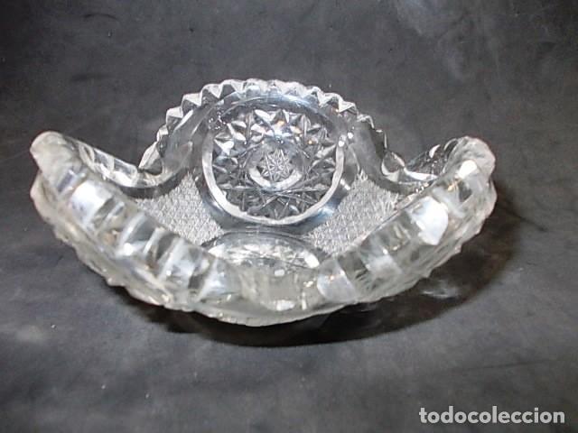 Antigüedades: ANTIGUO CENICERO EN CRISTAL DE BOHEMIA FINAMENTE TALLADO. - Foto 5 - 64035991