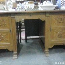 Antigüedades: ANTIGUA MESA DE DESPACHO INGLESA MADERA DE ROBLE. Lote 64056955