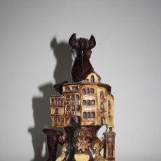 Antigüedades: BOTIJO EN CERÁMICA - RECUERDO DE CUENCA - PRIMERA MITAD SIGLO XX. Lote 43841786