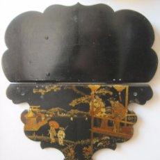 Antigüedades: ANTIGUA REPISA - PEANA DE PAPEL MACHE S.XIX. Lote 64083391