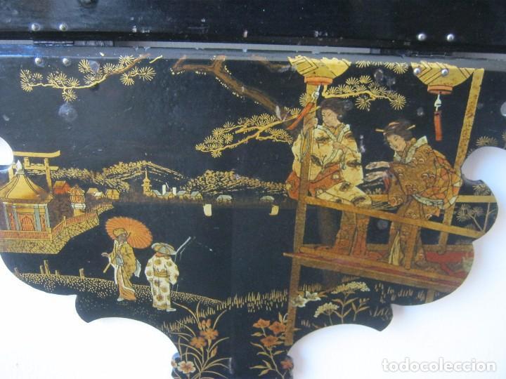 Antigüedades: ANTIGUA REPISA - PEANA DE PAPEL MACHE S.XIX - Foto 3 - 64083391