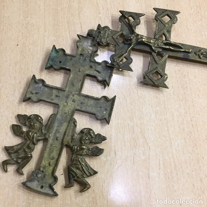 Antigüedades: CRUZ DE CARAVACA RELICARIO - Foto 10 - 64102647