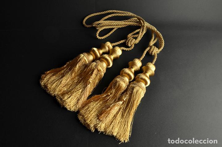 Antigüedades: Borlón o borla dorada oro, borlas de vestir. Cortina cortinas alza paños alzapaños - Foto 2 - 134021615