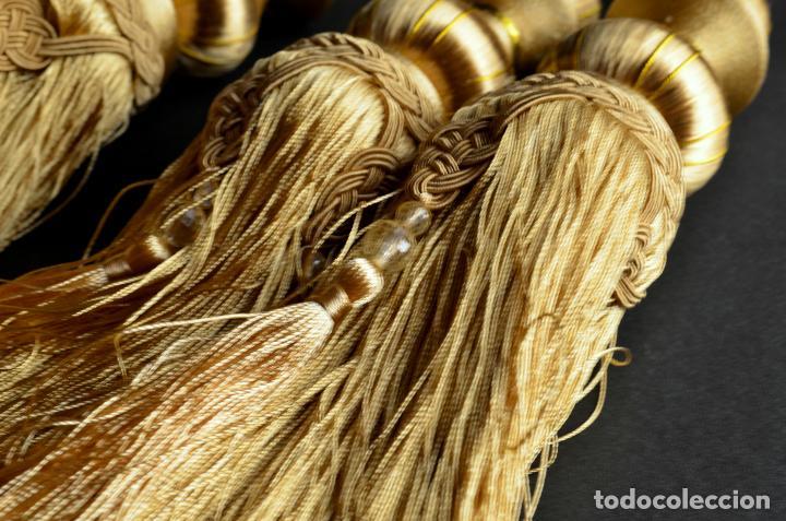 Antigüedades: Borlón o borla dorada oro, borlas de vestir. Cortina cortinas alza paños alzapaños - Foto 4 - 134021615
