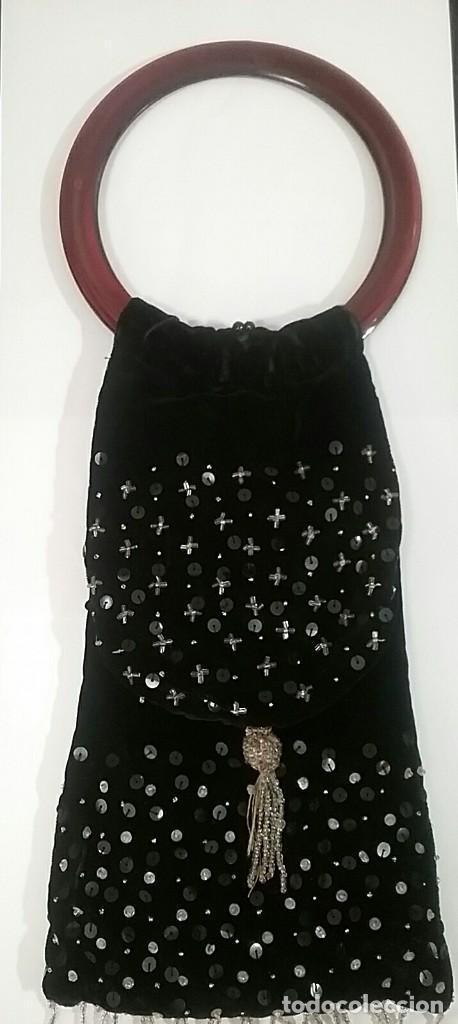 BOLSO MANO TERCIOPELO (Antigüedades - Moda - Bolsos Antiguos)