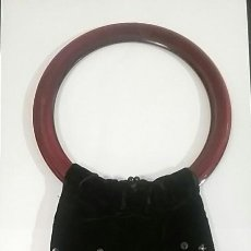 Antigüedades: BOLSO MANO TERCIOPELO. Lote 64112471