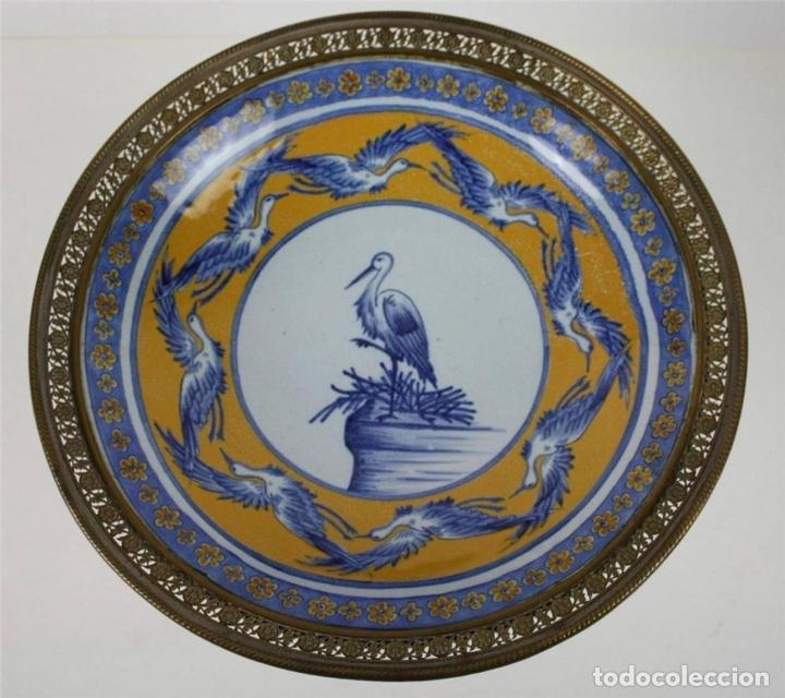 Antigüedades: CENTRO DE MESA. PORCELANA Y BRONCE DORADO. FRANCIA?. SIGLO XVIII-XIX - Foto 3 - 64112807